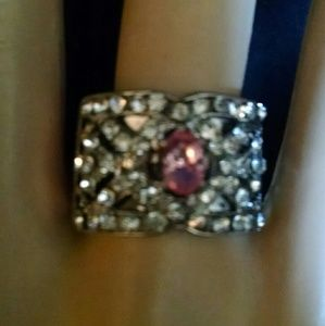 Beautiful rhinestones ring